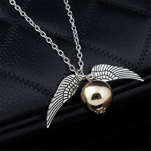 Colar Pomo de Ouro Asa Do Anjo Harry  Potter