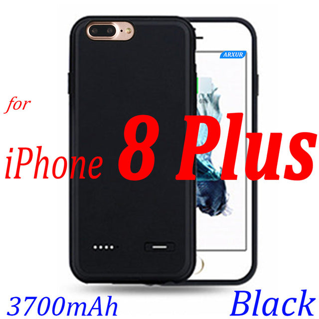 new arrivals c2a37 f602f Battery Case For iPhone 8 8 Plus Battery Charger Case Charge Slim Ultra  Thin Extra Backup Case Power Bank Cover