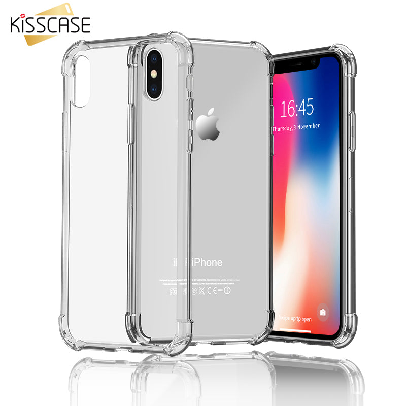info for 2c289 6295c KISSCASE Case For iPhone Xs Max Xr Shockproof Knockproof Phone Case For  iPhone X 7 8 Plus 5 5S SE 6 6S Transparent Back Covers