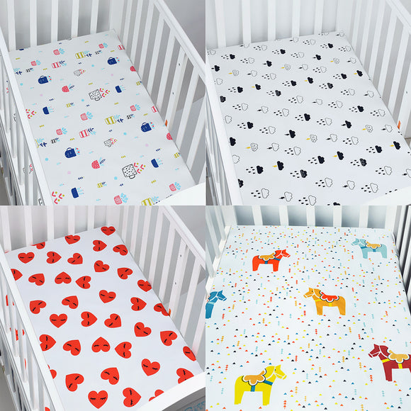 100% Cotton Percale Fitted Crib Sheet | 130 cm x 70 cm x 23 cm | Perfect For Your Nursery