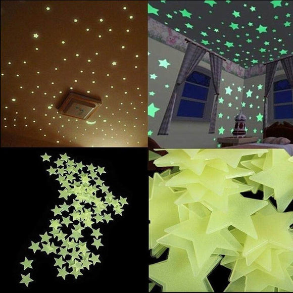 Glow-In-The-Dark Stars (Pkg of 100 Stars) - Free Shipping