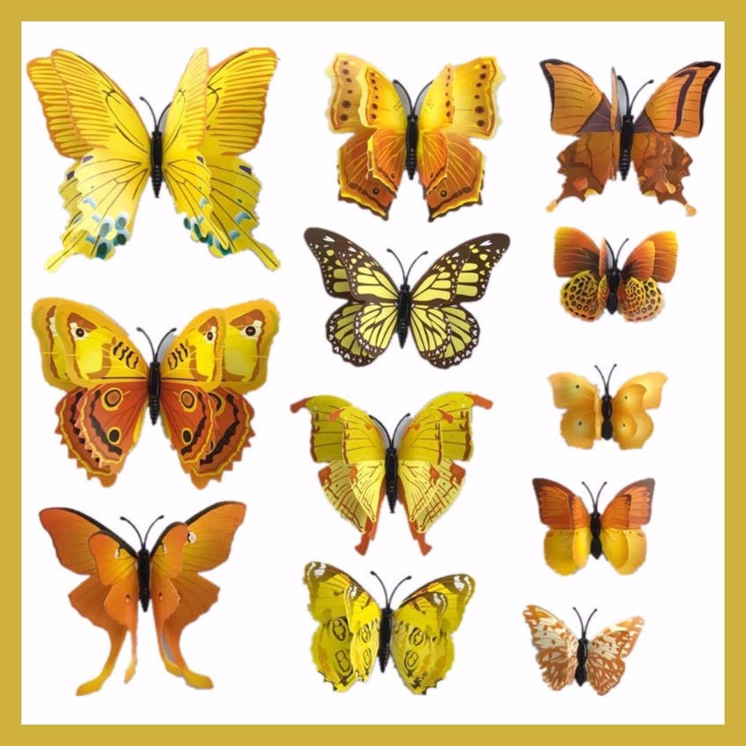 3D Butterflies For Your Wall - NEW | Double Wings | Indoor/Outdoor ...