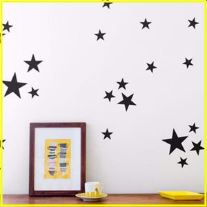 Star Decal Stickers - Gold Black Silver Grey (Pkgs of 38 Stars)