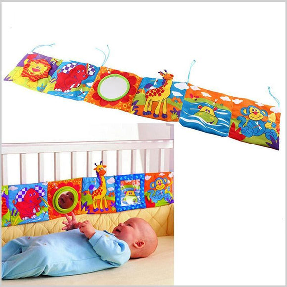 Baby Crib Bumper Doubles As Infant Toys | Educational Toys are Great Baby Toys for Baby Shower Gifts