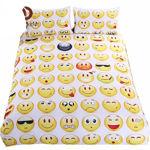 Bedding: Emoji DUVET COVER and MATCHING PILLOW COVERS | 3 PCS