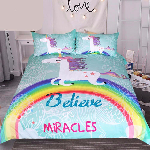 Bedding: DO YOU BELIEVE IN MIRACLES? DUVET COVER and MATCHING PILLOW COVERS | 3 Pcs