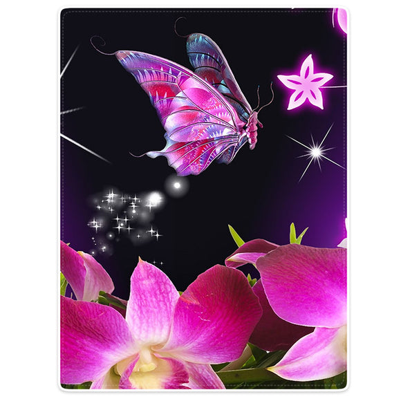 Easy Care High Quality Fuzzy Blanket with Beautiful Butterfly