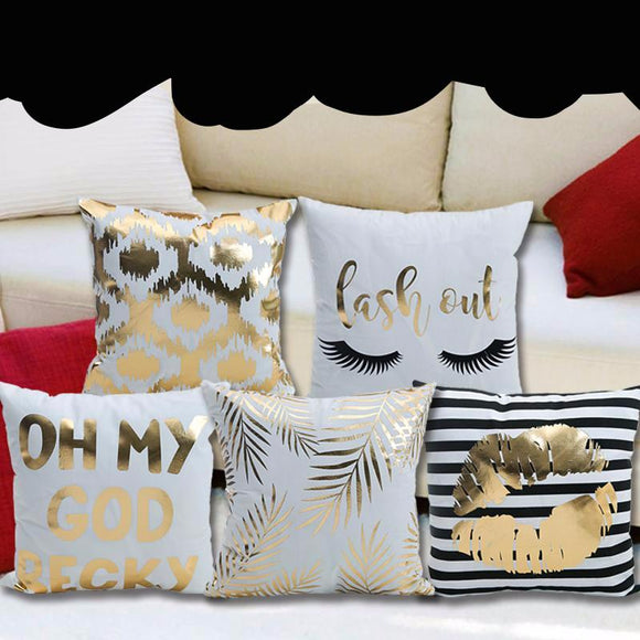 Metallic Gold Pillow Covers 17