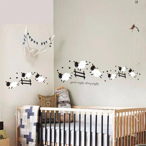 Counting Sheep CUTE Wall Decal For Nursery Or Child's Room - FEATURE PHOTO!