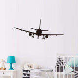 Commercial Airplane Wall Decal | 3 Sizes | Black or White