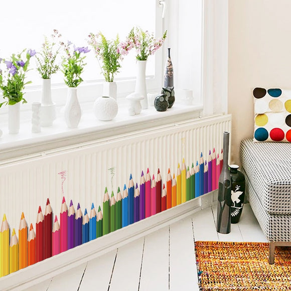 DIY Wall Decal: Back To School With Colored Pencils! |