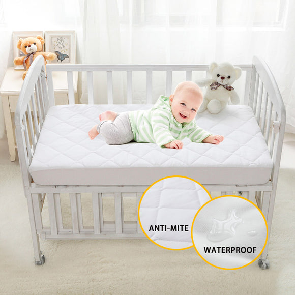 Quilted Protective Mattress Cover For Crib | Waterproof, Breathable |  28 x 52 x 6 inch