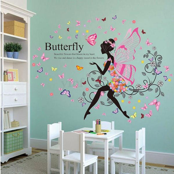 New Magical Fairy Decals - Fairy with Butterfly Quote