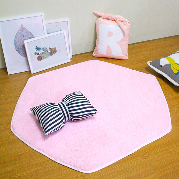 Plush Carpet Mat For Princess Castle Tent | Hexagon Shape | Ships From USA