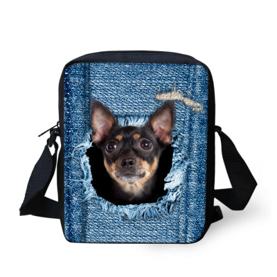 Small  Cross Body Messenger Bag For Cat or Dog Lovers! | 7 Different CAT and DOG Designs!