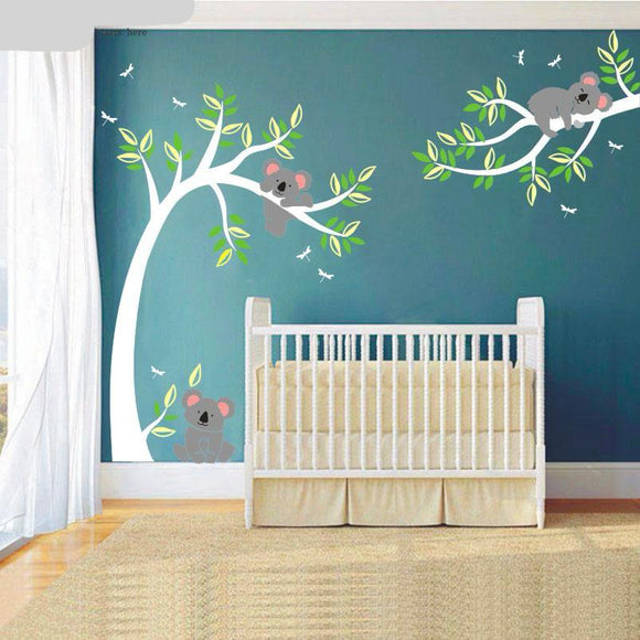 Koala Bears in Tree And Branch Wall Decal  | Large 80