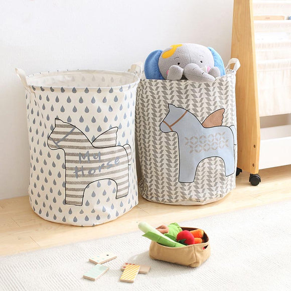 NEW! Angel Horses Cotton Folding Laundry Basket For The Nursery