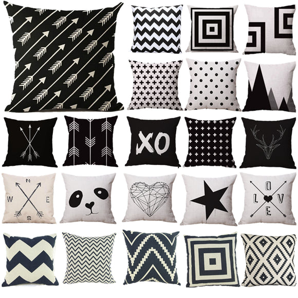 Pillow Covers | BLACK and WHITE | 22 Designs
