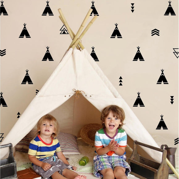 Teepee and Arrow Wall Decals - Nursery Decor, Child's Room