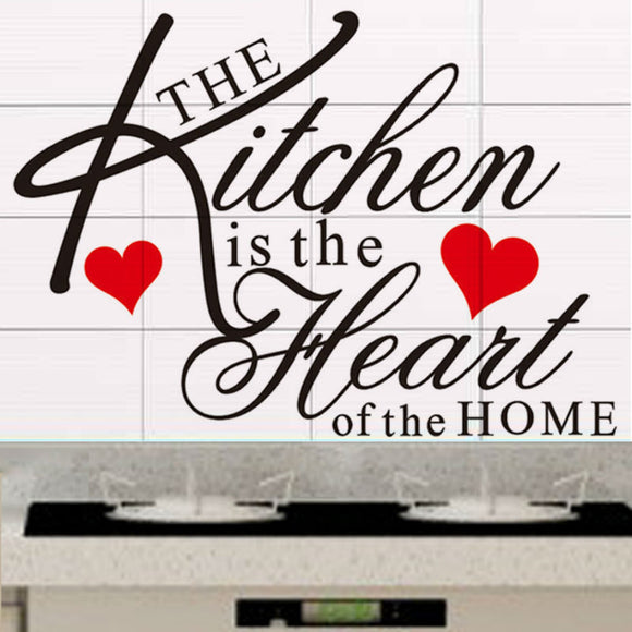 The Kitchen is the Heart of the Home - Wall Quote