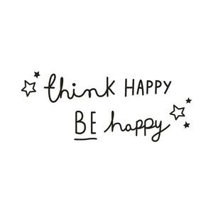 Think Happy Be Happy Wall Decal Quotes Provide Daily Inspiration