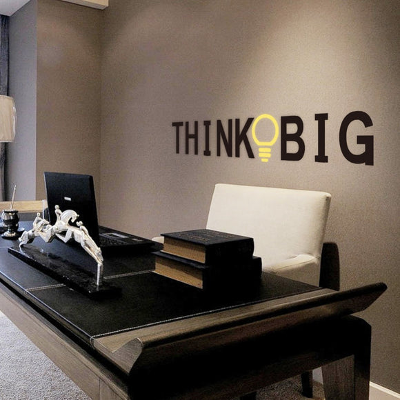 THINK BIG - Wall Decal For Your Office - FREE Shipping!