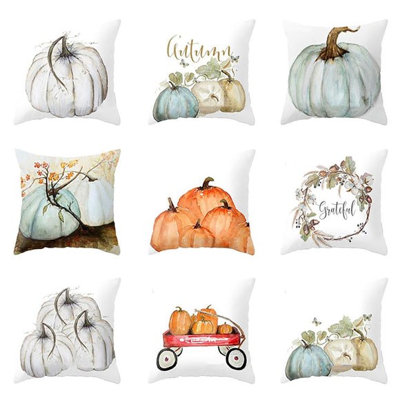 Watercolor Pumpkin Pillow Covers | Fall, Halloween, Thanksgiving Day Decor