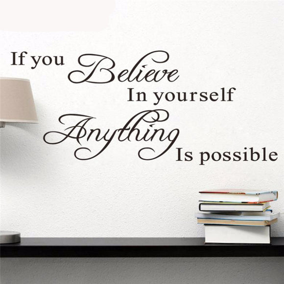 Believe In Yourself Quote - Wall Decal