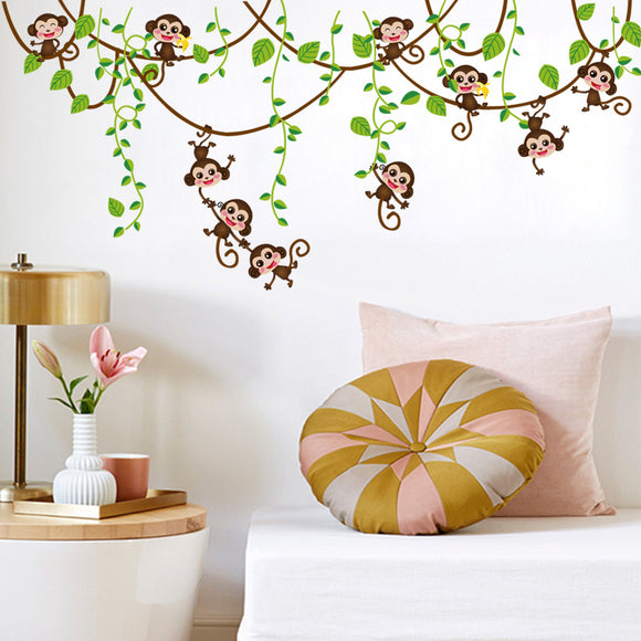 Monkey Vine Wall Decal | FREE Shipping | So CUTE!