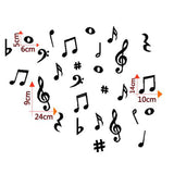 28 Vinyl MUSIC NOTES Wall Decals Variety Pack