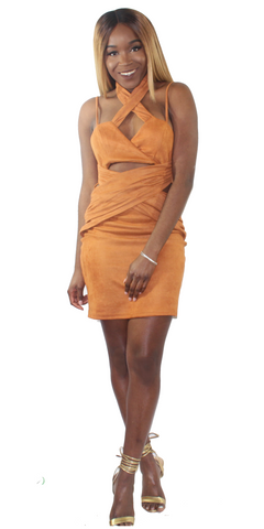 Carmen Suede Dress, , - Virago Boutique