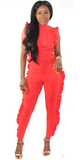 Flaming Red Jumpsuit, , - Virago Boutique
