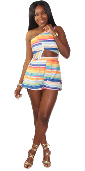 Candyland Striped Matching Set, , - Virago Boutique