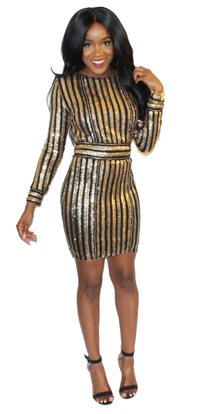 Rockstar Sequin Dress, Dress, - Virago Boutique