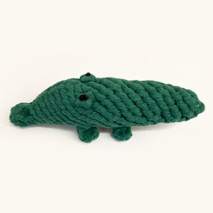 Crocodile 100% Cotton Rope Toy