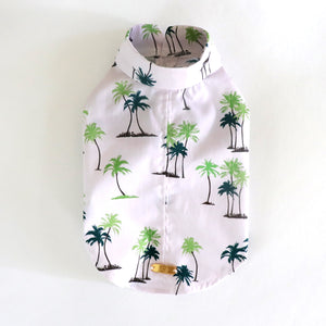 Palm Roll up Shirt - White
