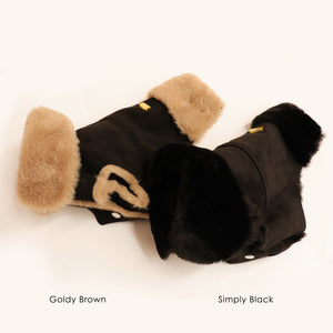 Faux Lambskin Coat - Simply Black