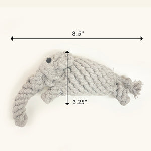 Elephant 100% Cotton Rope Toy