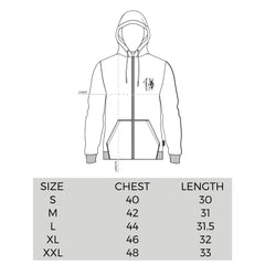 One Peace Clothing Zip Sizing Chart