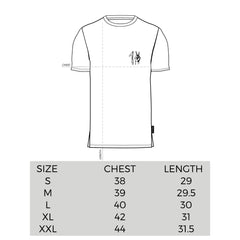 One Peace Clothing Tee Sizing Chart