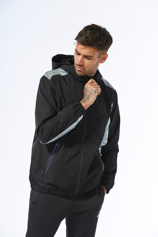 Medford Windbreaker Jacket Black/Reflective