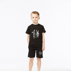Youth Signature Short - Black