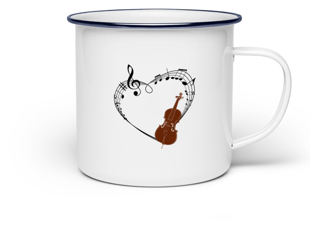 Cello Emaille Tasse