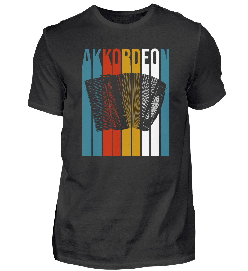 Akkordeon Retro Design T-Shirt