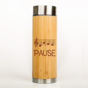 "Musiker Bio-Bambus Thermoskanne ""CAFE Pause"""