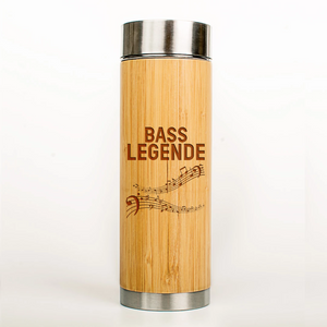 "Musiker Bio-Bambus Thermoskanne ""Bass Legende"""