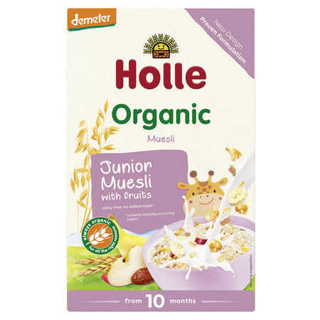 Muesli orgánico junior multigrano con fruta para bebé Holle Baby Food