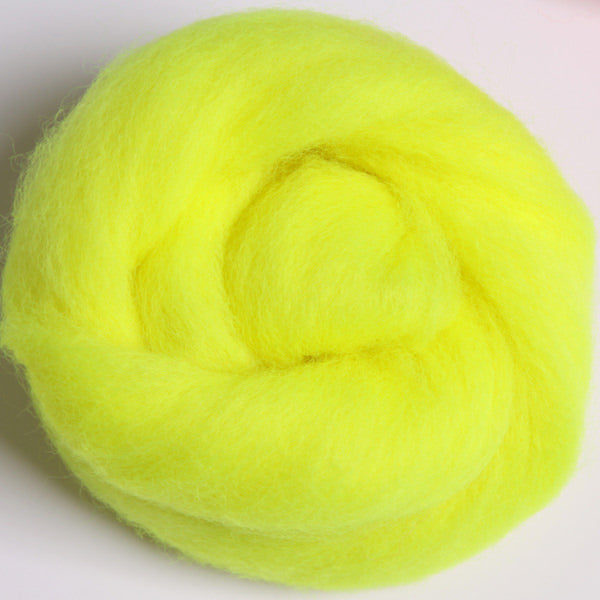 Merino Top (22 Micron) Fluo. Yellow