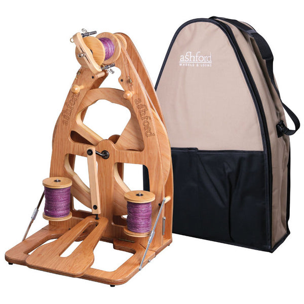 Joy Single Treadle Spinning Wheel 2 & Carry Bag