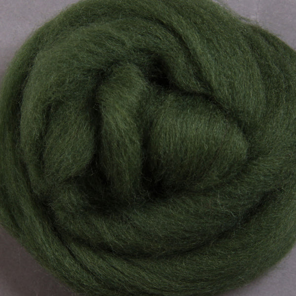 Corriedale Top Fern Green